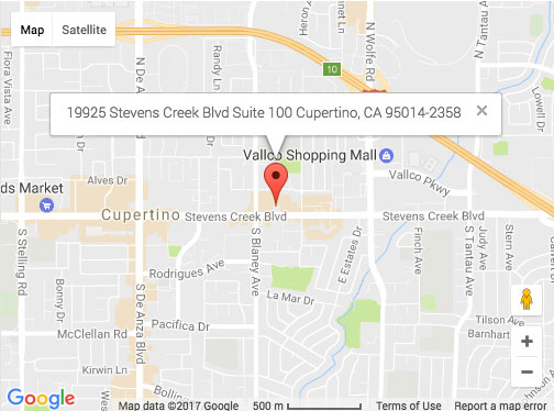 cupertino-map - Pacific Workplaces on