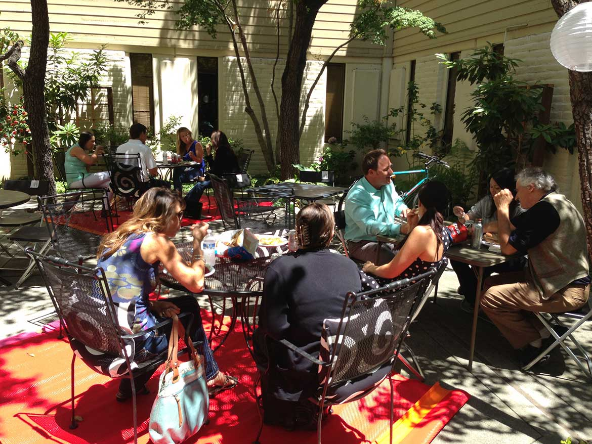 Pacific Workplaces Palo Alto Building Courtyard and Community Events