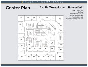 San Francisco Floor plan for Pacific Workplaces' Temporary Office Space
