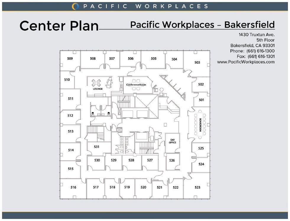 Pacific Workplaces Bakersfield Floor Plan