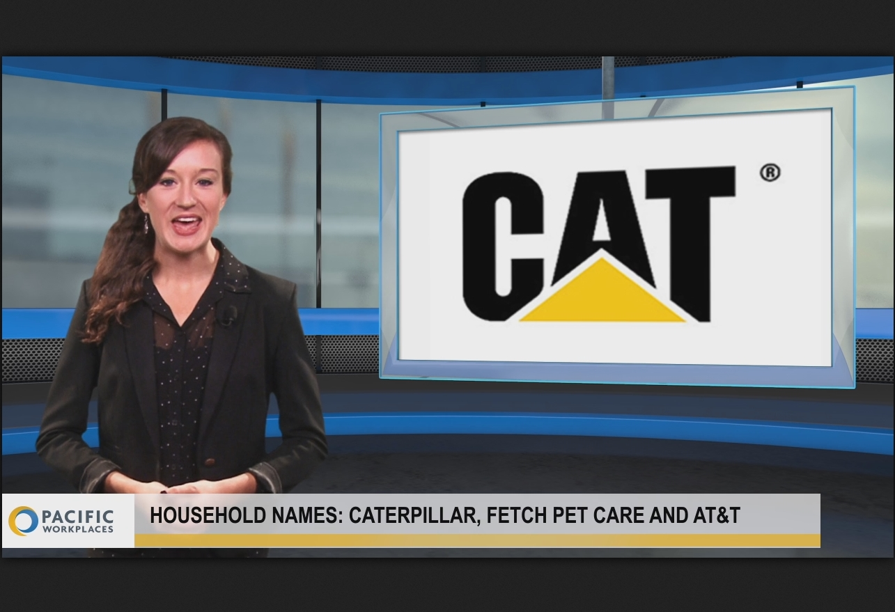 Household names: Caterpillar, Fetch! Pet Care and AT&T.