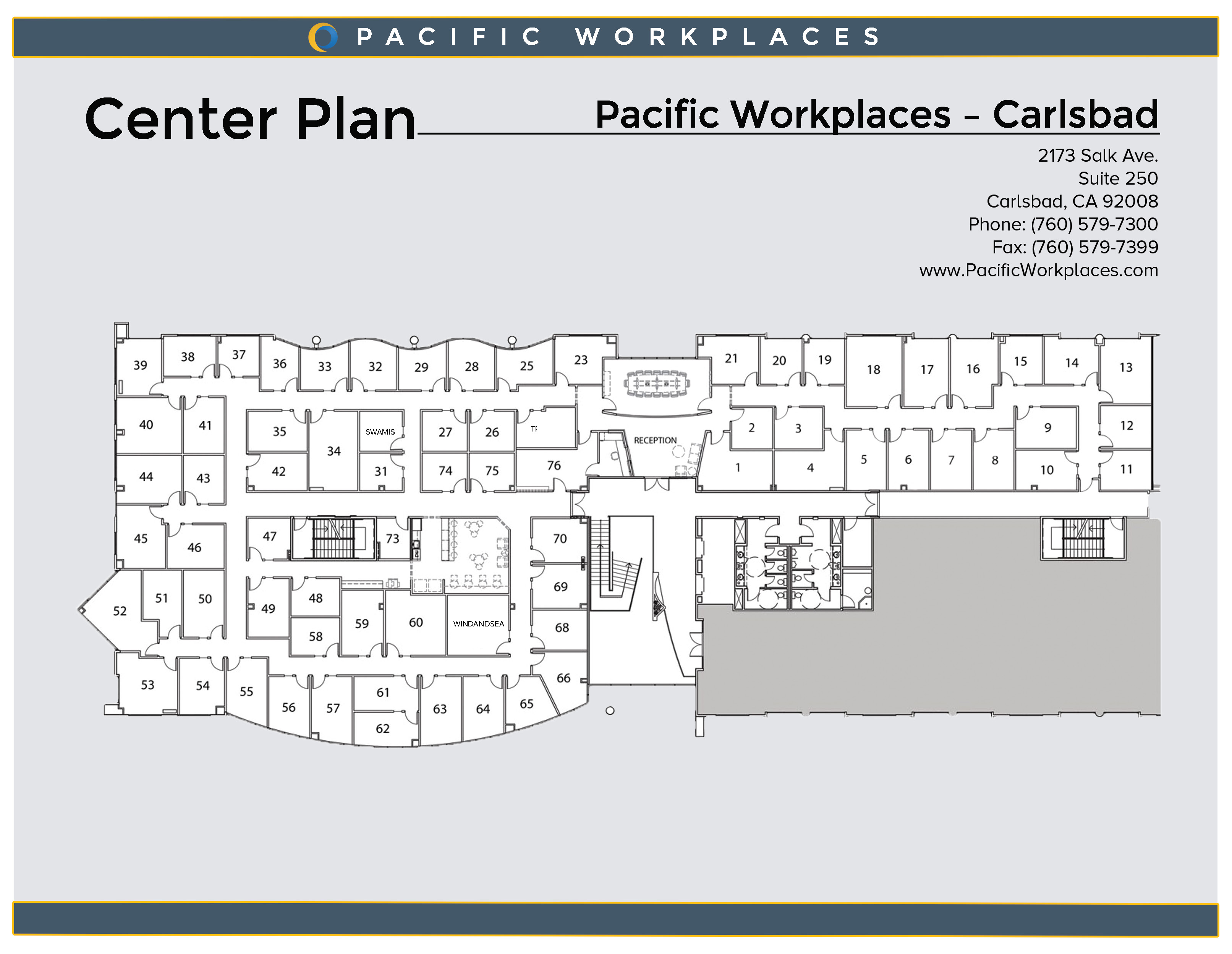Pacific Workplaces Carlsbad Floor Plan