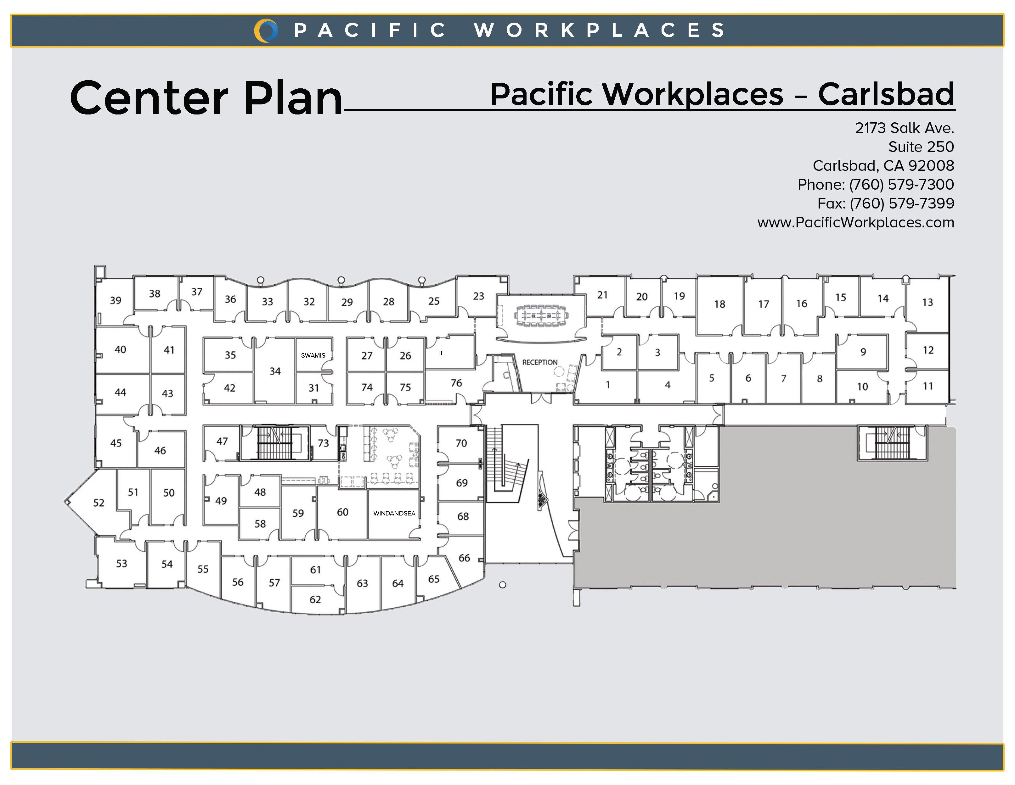 Pacific Workplaces Carlsbad Floor Plan