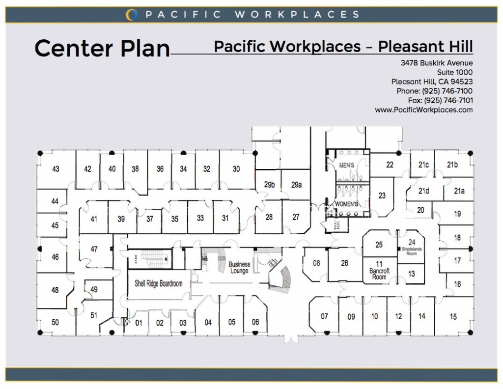 Pacific Workplaces Pleasant Hill Floor Plan