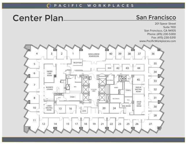Pacific Workplaces San Francisco Floor Plan