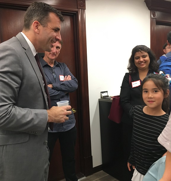 NextSpace Coworking San Jose Event Mayor Sam Liccardo Letter from 8 year old girl