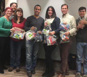 NextSpace Coworking San Jose Members Stuff Carebags For Homeless Community