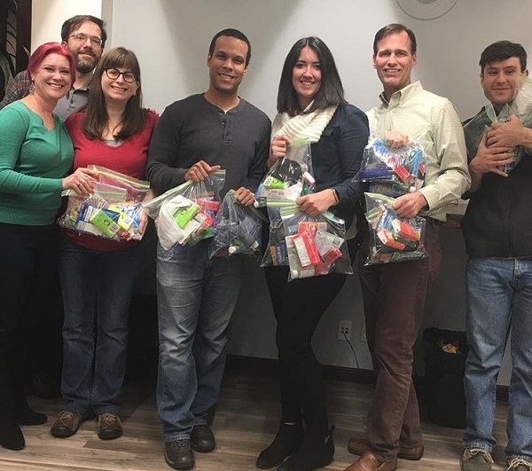 NextSpace Coworking San Jose Members Stuff Carebags For Homeless Community