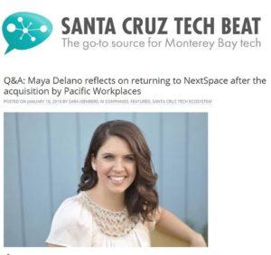 NextSpace Coworking Santa Cruz Community Manager Maya Delano Returns