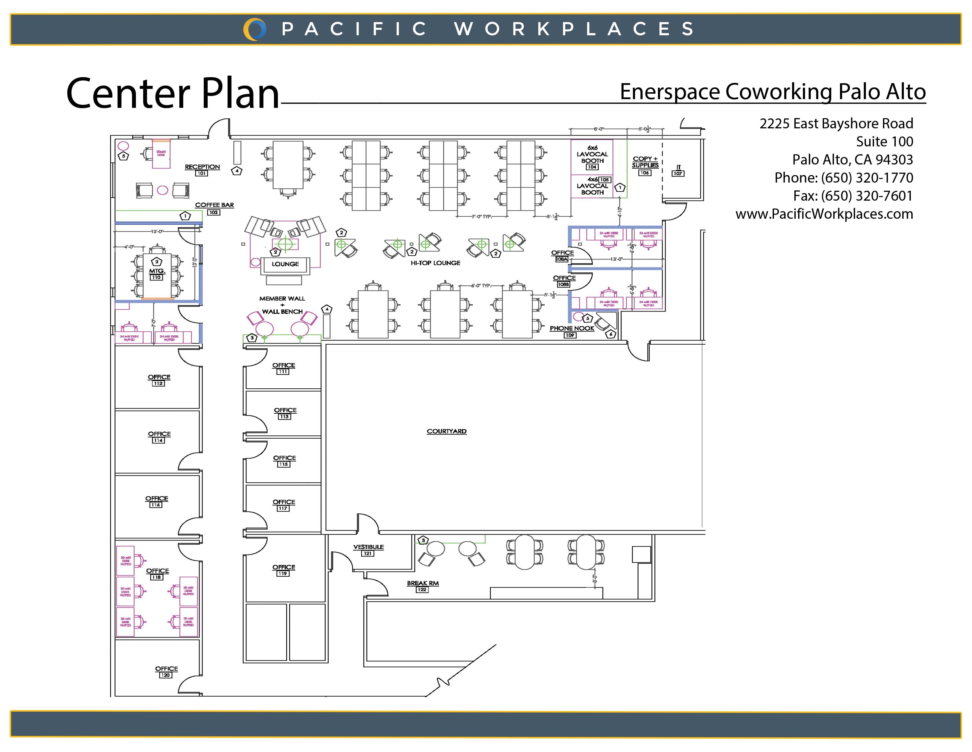 Enerspace Coworking Palo Alto Floor Plan 071618