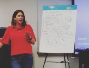 NextSpace Santa Cruz Community Manager Maya Delano at Pacific Workplaces Training Session