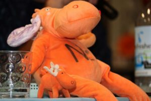 NextSpace Coworking Santa Cruz 10 Year Anniversary Orange Moose Stuffed Animals