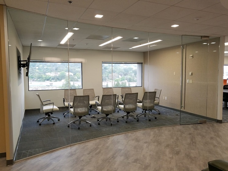 Pacific Workplaces Walnut Creek Glass Conference Room with Views