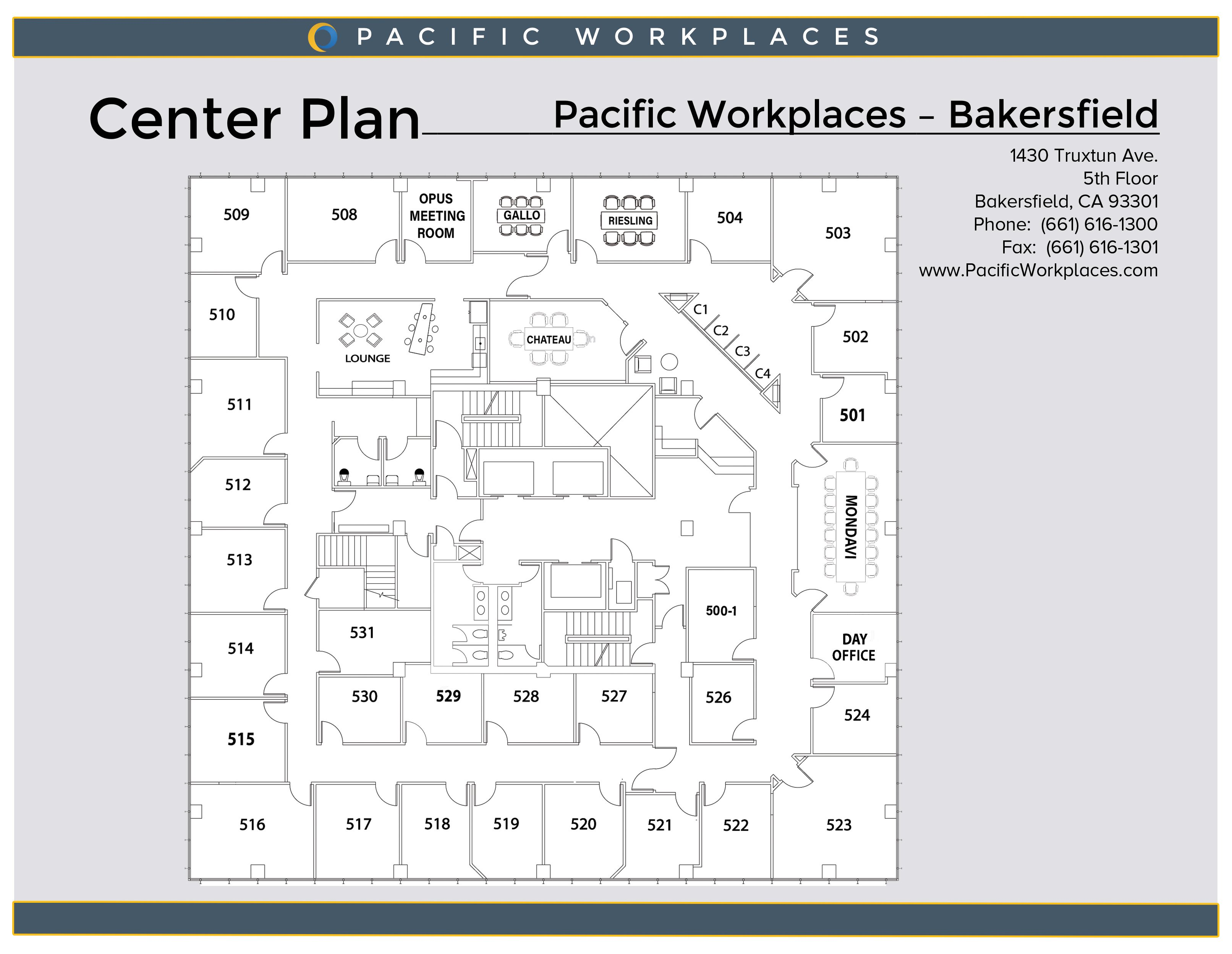 Pacific Workplaces Bakersfield Floor Plan 022619