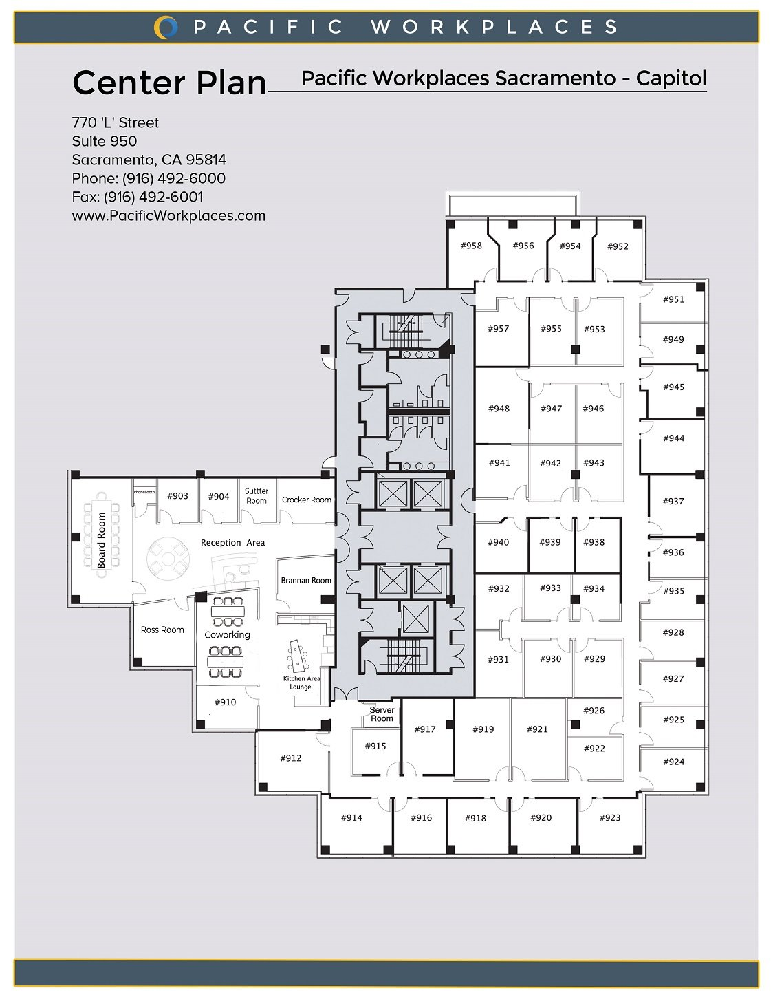 Pacific Workplaces Sacramento Capitol Floor Plan 022619