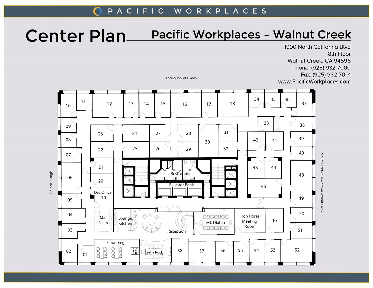 Pacific Workplaces Walnut Creek Floor Plan 030119