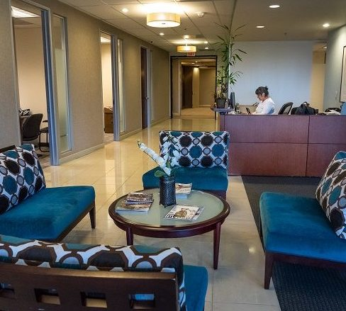 Pacific Workplaces Sacramento Capitol Reception Area