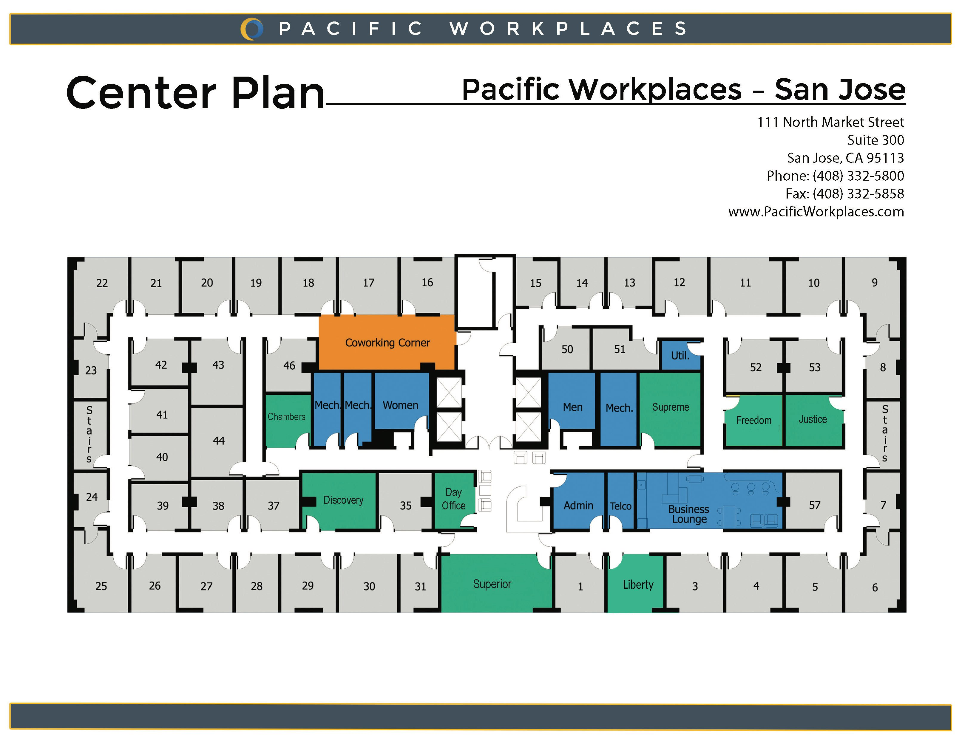Pacific Workplaces San Jose Floor Plan 091119