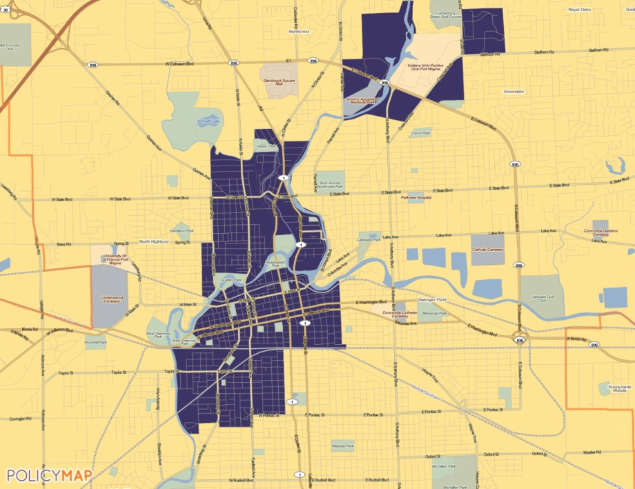 Opportunity Zones in Fort Wayne, Indiana