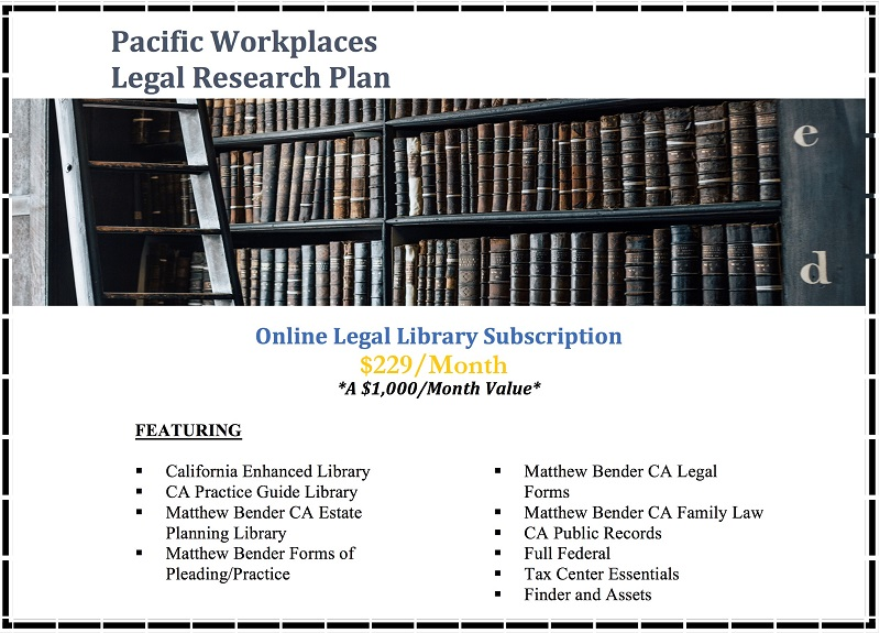 Lexis Nexis Legal Research Plans 111819 | Pacific Workplaces Solutions for Attorneys