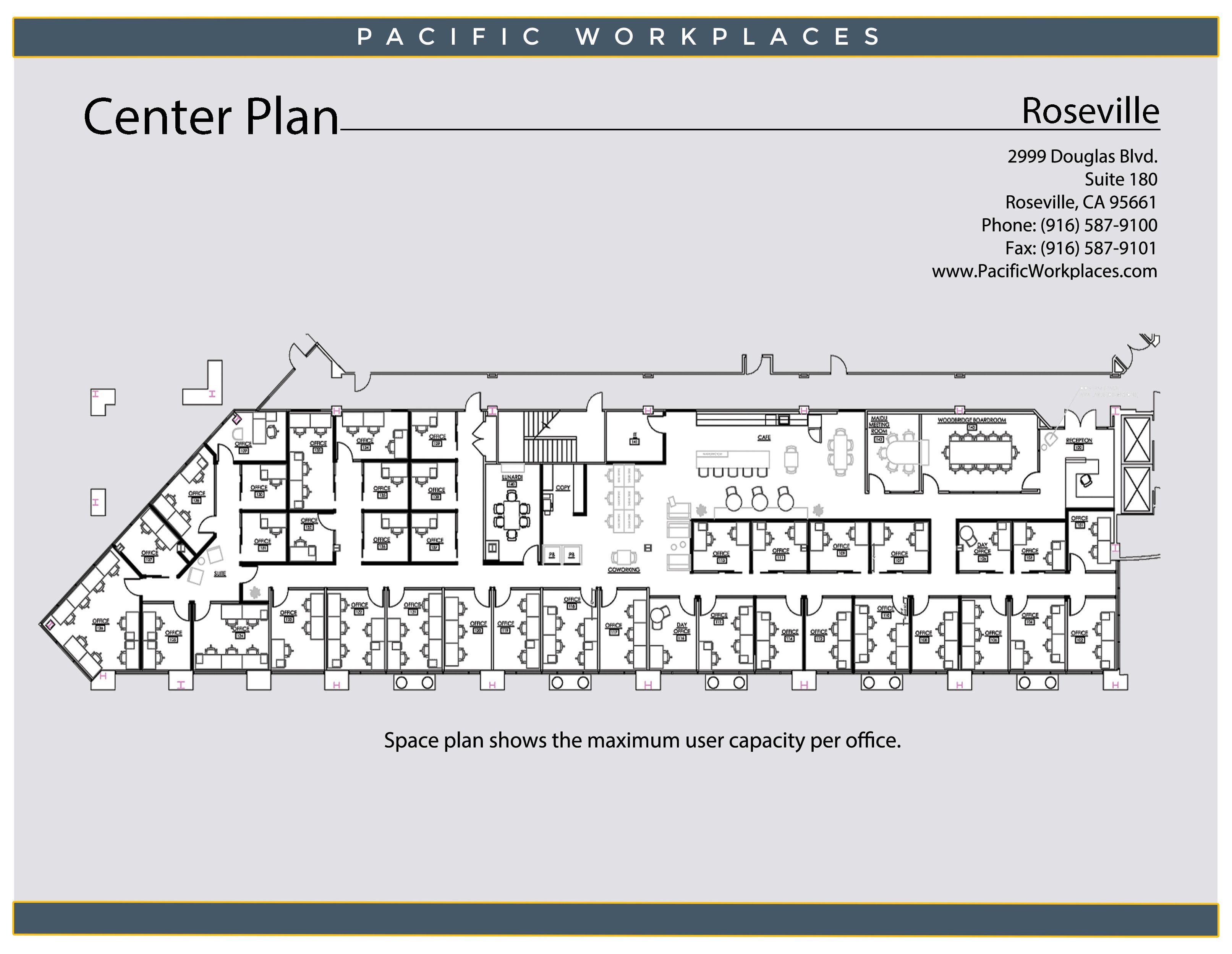 Pacific Workplaces Roseville Floor Plan 030320