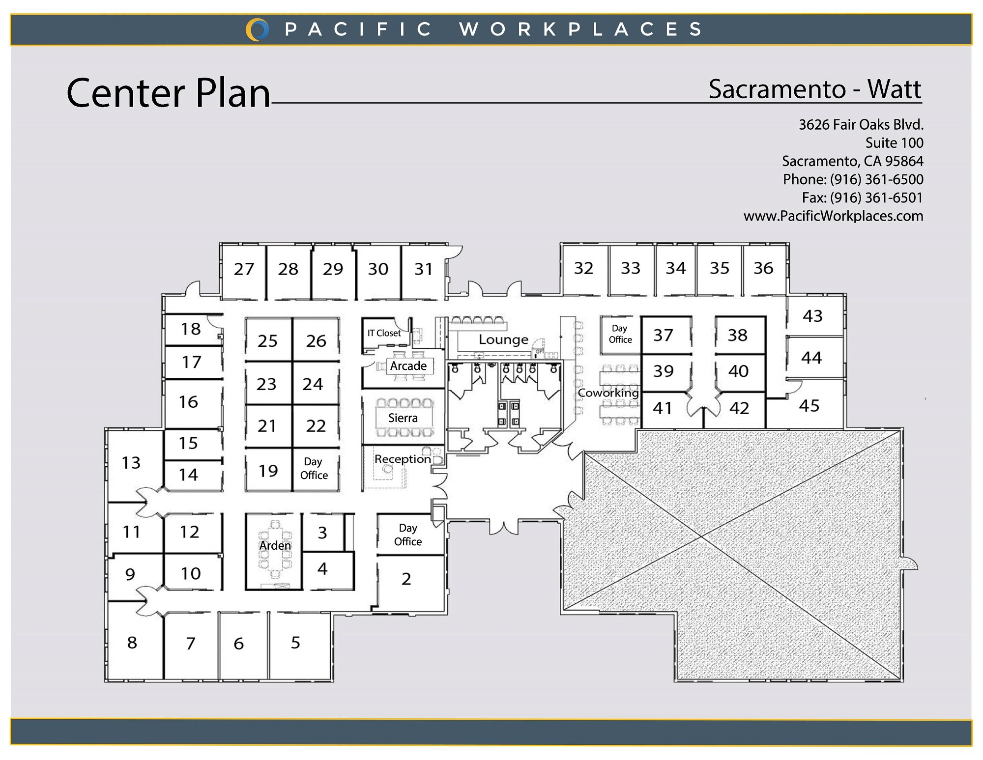 Pacific Workplaces Sacramento Watt Floor Plan 030220