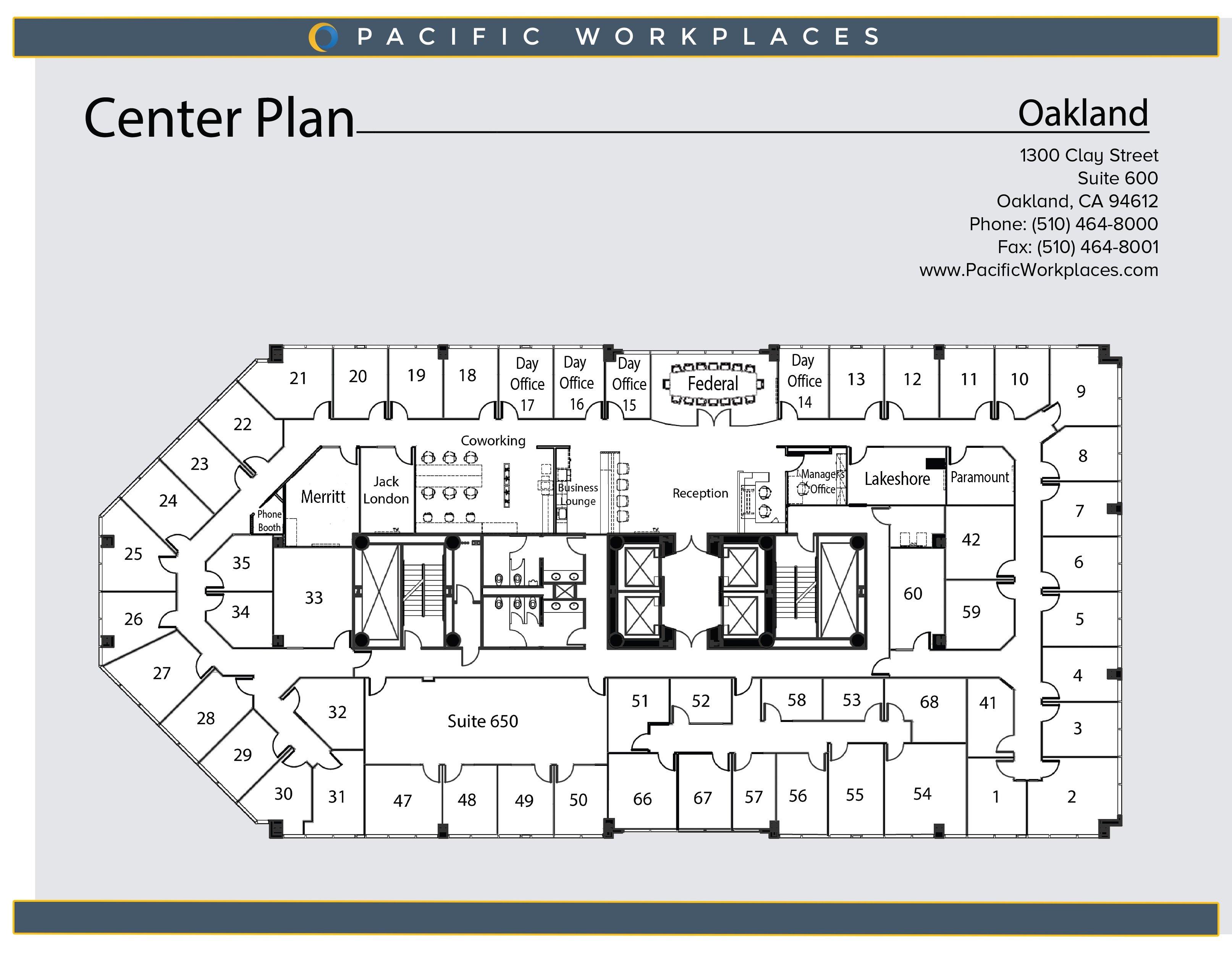 Pacific Workplaces Oakland Floor Plan 052620