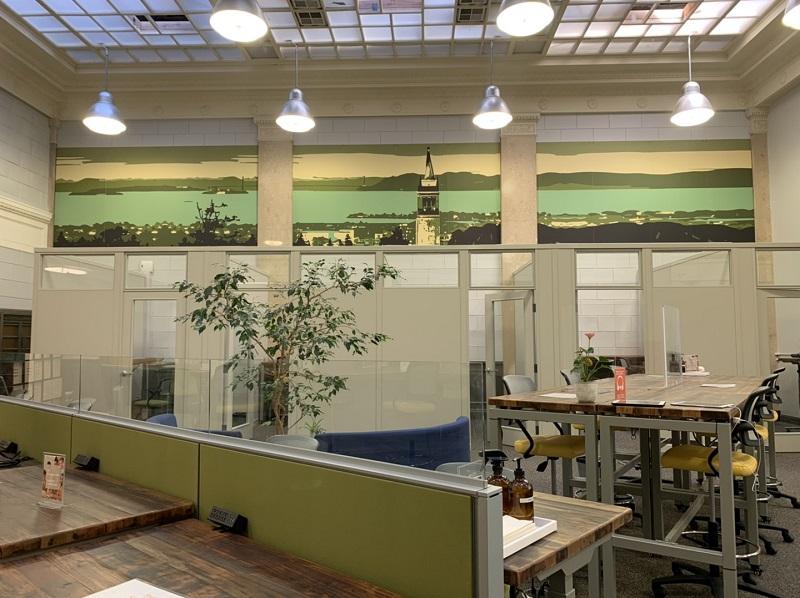 NextSpace Coworking Berkeley Space Refresh Skyline Mural